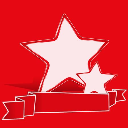 Background with Red Vector Stars Vector