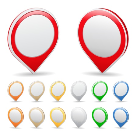 pushpins: Marcadores de mapa Vectores