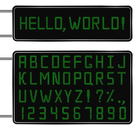 Vector Green Digital Font Stock Vector - 10963105