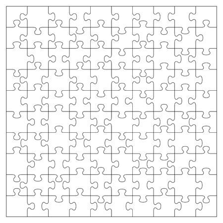 Vector transparante puzzel met 100 stukjes