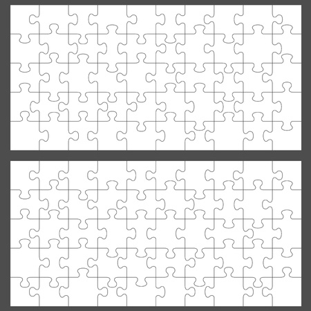 brain puzzle: Vector jigsaw puzzle with 50 pieces