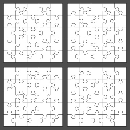 Vector jigsaw puzzle with 25 pieces Vector