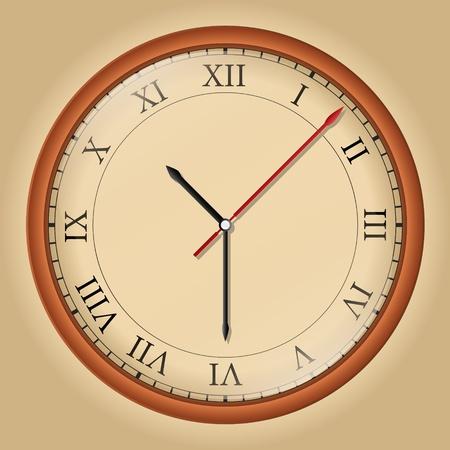 orologio da parete: Vector orologio da parete con numeri romani Vettoriali