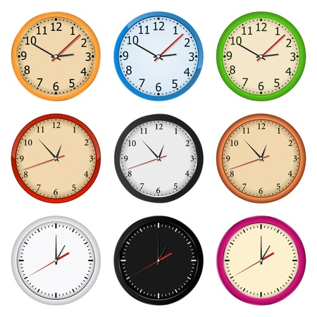 Wall clocks Stock Vector - 11030268