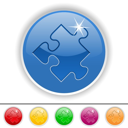 answer: Puzzle piece icon, vector illustration Illustration