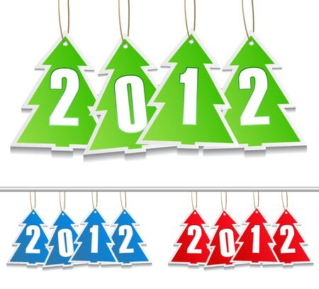 Vector New Year Tags Vector