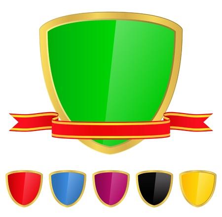 Shield with Ribbon Stock Vector - 11115863