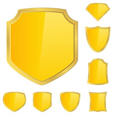 gold plaque: Golden shields