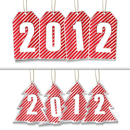 New Year Tags  Vector