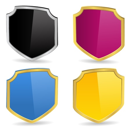 Vector 3D Shields Stock Vector - 11205338