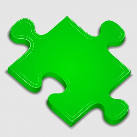 puzzle piece: Icono de la pieza del rompecabezas verde Vectores