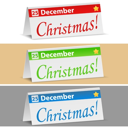 Christmas banners, transparent shadows Vector