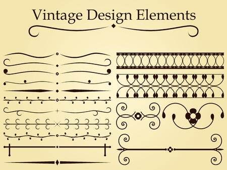 Vintage design elements Stock Vector - 11365602