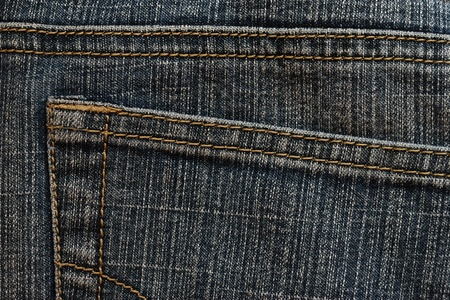 Pocket of an old jeans photo