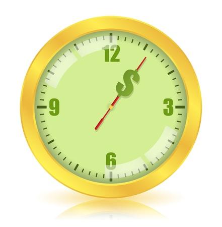 cuenta bancaria: El tiempo es dinero concepto Vectores