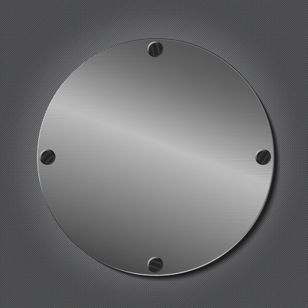 metal plaque: Metal Round Plate