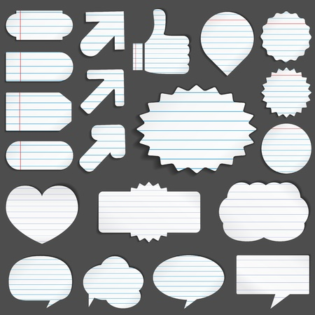 Paper objects Stock Vector - 11367564