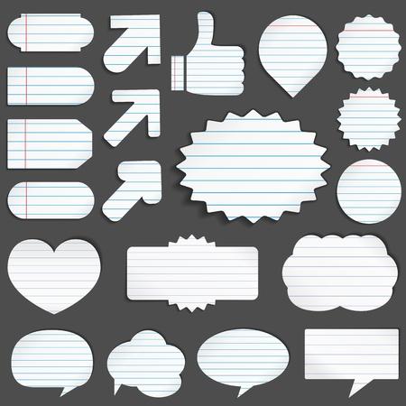 Papier-Objekte Vektorgrafik