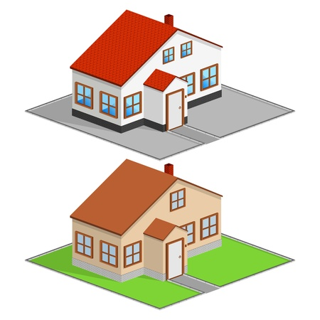 Isometric house Stock Vector - 11601135