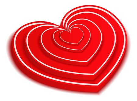 3D Red Hearts photo