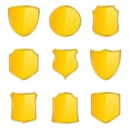 Golden shields Stock Photo - 11601176