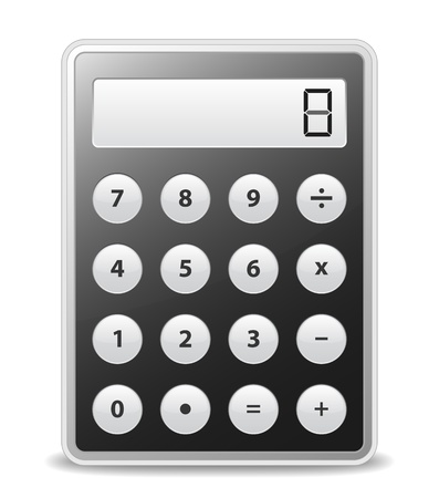calculator icon: Black calculator with gray buttons