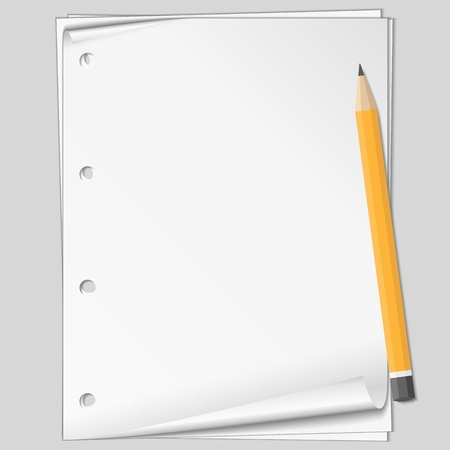 Paper and pencil Vector