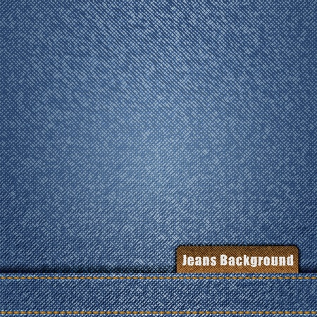 Blue jeans background Stock Vector - 11601231