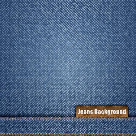 Niebieskie tło dżinsy Ilustracje wektorowe