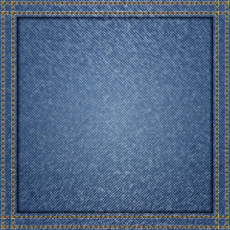 Blauwe jeans achtergrond Vector Illustratie