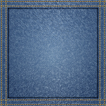 Blue jeans background Vector