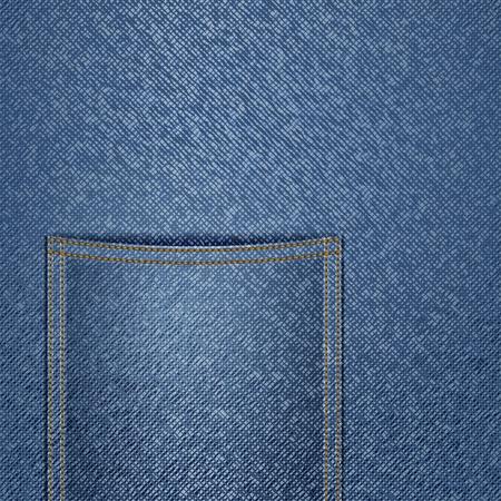 Fond bleu jeans avec une poche