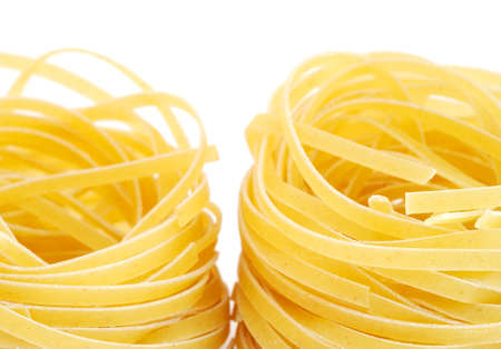Close-up of a pasta isolated on white background photo