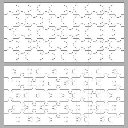 Vector puzzles with 50 pieces Vector