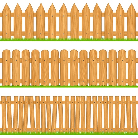 Wooden fences Illustration