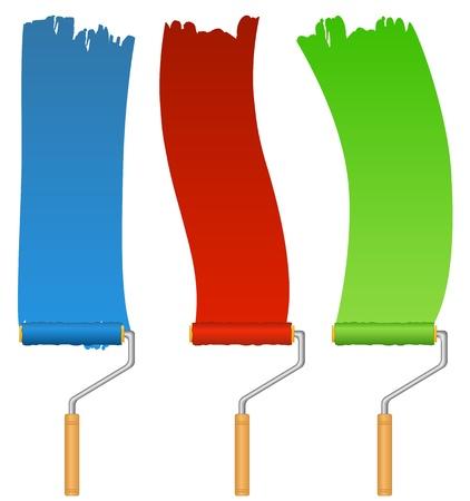 Rollers en verf Vector Illustratie
