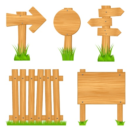 Wooden  objects Stock Vector - 11675033