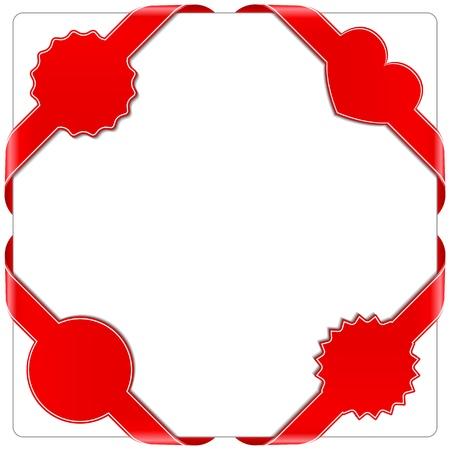 Red corner ribbons Vector