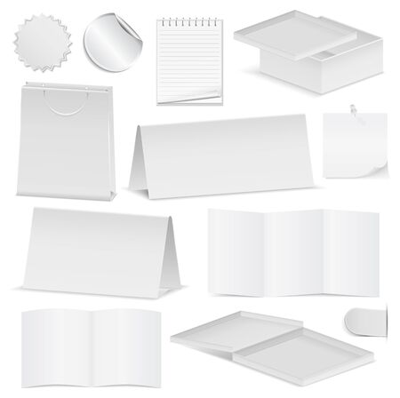 Paper Objects Vector