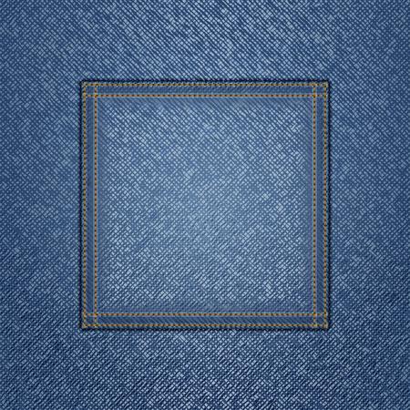square detail: Jeans de fondo Vectores