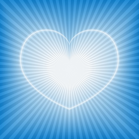 Blue background with heart Vector