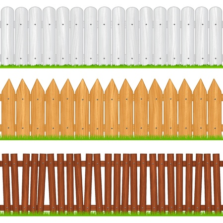 boundaries: Wooden fences Illustration