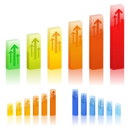 Bar Graphs Stock Vector - 11889358