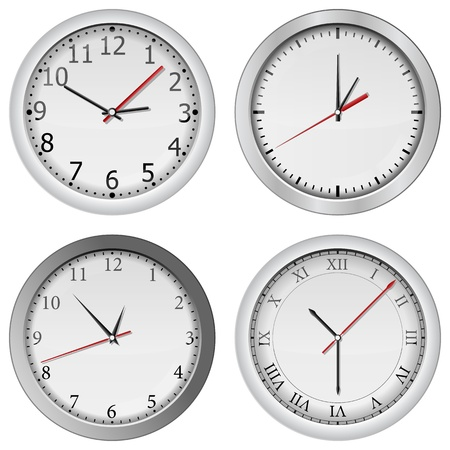gray wall clocks Stock Vector - 11889366