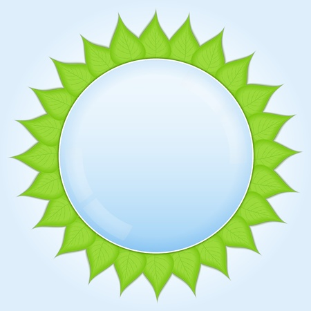 Circle with green leaves Vector