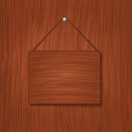 Hanging wooden board Stock Vector - 11933128