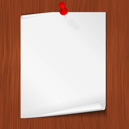 Paper attached to the wall, vector eps10 illustration Vector