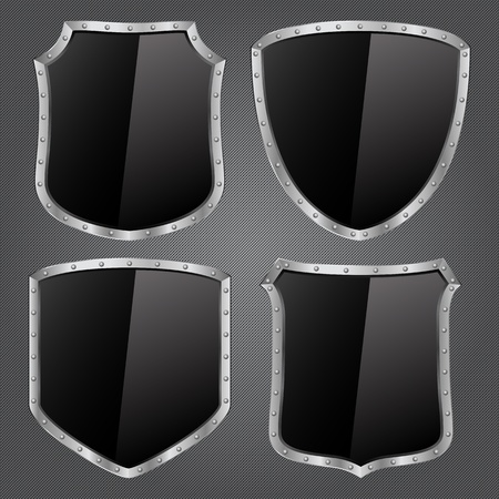 Vector Black Shields Vector