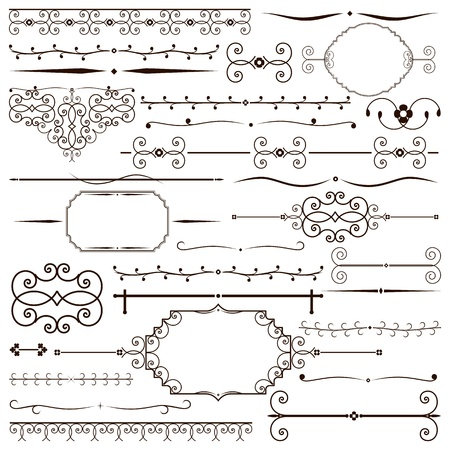 Vector set of vintage design elements Stock Vector - 12007132