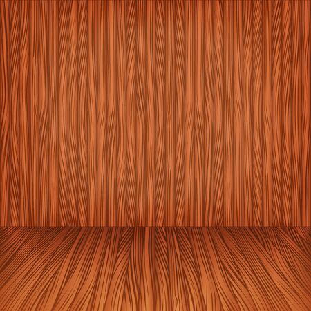 Wooden floor and wall Vector